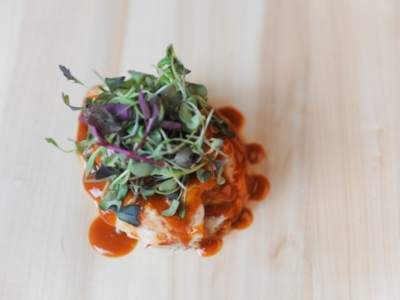 Menú 12 - Bogavante sobre Tomate Cherry y Hojaldre Caliente con Salsa de su Coral y Micro Mezclum 3