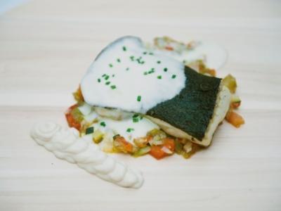 Menú 12 - Rodaballo sobre Ratatuille, Salsa de Patat y Nueces Embulsionadas 4