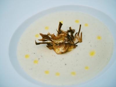 Menú 16 - Crema de Alcachofas y Trufa en su Crujiente 3