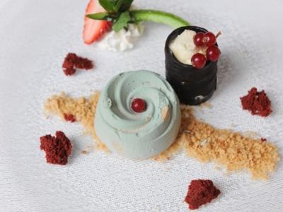 Menú 5 - Cremoso de Avellana con Trufa de Té Verde y Crujiente de Frutos Secos con Helado de Chocolate Blanco - 3
