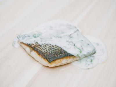 Menú 8 - Lomo de Lubina al Cava con Mezcla de Algas 1