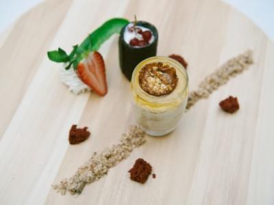 Menú 8 - Vaso de Turron y Crujiente de Caramelo con Helado de Leche Merengada 2