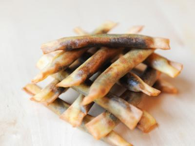 Bastón de Pasta Brik Relleno de Morcilla y Manzana 4