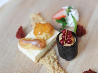 Tarta Saint Honoré de Crema Especial con Helado Crema